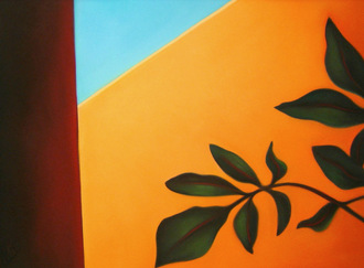 """Leaves on Adobe Wall "" by leading Taos Artist Margaret Nes. She has donated this 17 x 23 pastel valued at $ 4800 to be the featured Raffle item. $ 5 per ticket or 5 for $ 20."