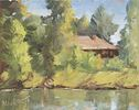 Mark Coulter / Lake House 8 x 10, oil $450