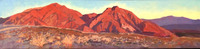 "SOLD  60"" Degrees of Sunrise       12"" x 48"" oil on gallery wrapped linen       framed in contemporary maple floater frame to 13.5"" x 49.5""       plein air painted at 2017 Borrego Springs Art Institute Invitational Paint Out and has been in        someone"