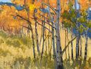 Susan McCullough / Aspens in the Highlands 12 x 16, oil $900
