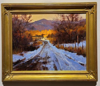 """Spring Road, Taos"" 11x14 Oil. Available at 2000."