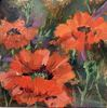 Lucy Yanagida / Poppies 8 x 8, oil $475