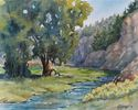 Mary Pat Ettinger / Morning at Grape Creek 8 x 10, acrylic $450
