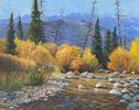 Susan McCullough / Willow Creek in the Fall 16 x 20, oil $1200