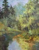 Mary Ann Davis / Mosquito Creek 16 x 20, oil $1600