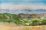 Barbara Tobin / Klema Mancos Valley Near Mesa Verde 13 x 20, watercolor $450