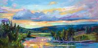 Marie Massey / Evening Sonata 12 x 24, oil $800