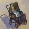Pam Holnback / On The Sidewalk 12 x 12, oil $695