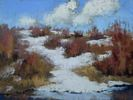 Clare Scott / Retreating 9 x 12, pastel $500