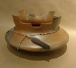 Kiva Step Bowl with beads and feather