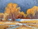 Jan Kirkpatrick / Fleeting Winter Sun 9 x 12, oil $600