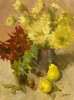 Dahlias and Pears