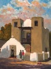 Ken Peiper / San Geronimo De Taos Spanish Mission 9 x 12, oil $950